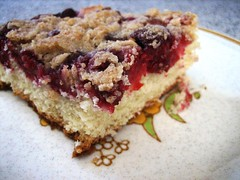 Make a Buckle! (get.wise) Tags: baking yum buckle raspberries homegrown crumb