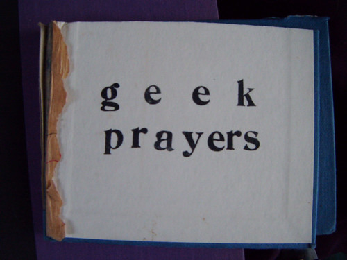 outside front cover of geek prayers