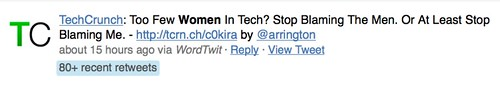 TechCrunch: Too Few Women In Tech? Stop Blaming The Men. Or At Least Stop Blaming Me.