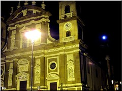Cattedrale San Pietro - Frascati....and the moon (Ezio B61) Tags: moon luna frascati piena lupomannaro