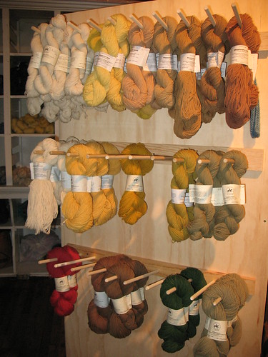 plant-dyed wool