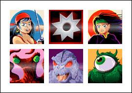 free Naughty Ninjas slot game symbols