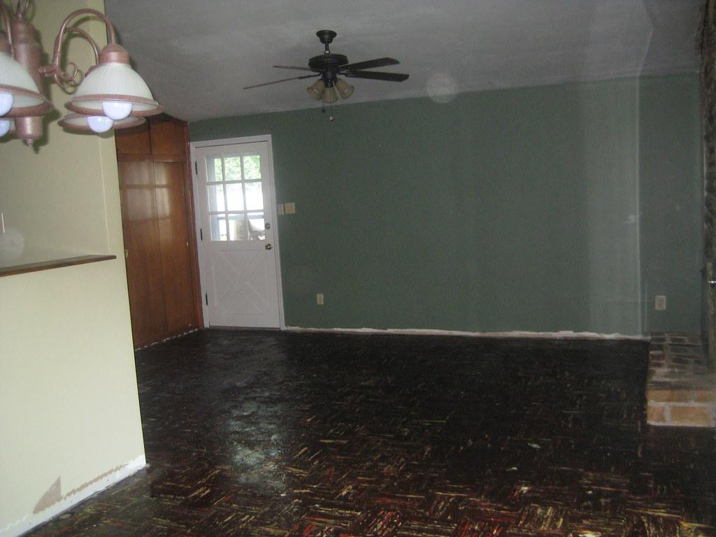 Liggett Drive:Slab Floor Project-Living Room