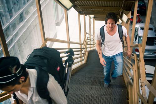L Train stairs (sans Batman)