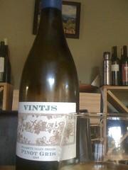 2009 VINTJS Pinot Gris