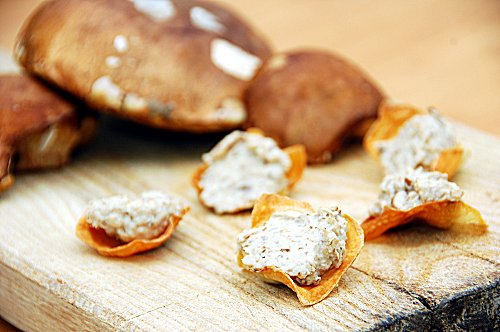 cestini di patate e funghi