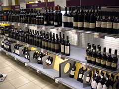 Port Wine section in a Systembolaget shop in Sweden