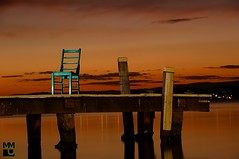 Green Chair (Macr1) Tags: sunset water newcastle chair nikon gimp australia wharf nsw nikkor gettyimages lakemacquarie greenchair macr strobist sb900 squidsink nikond700 markmcintosh macr1