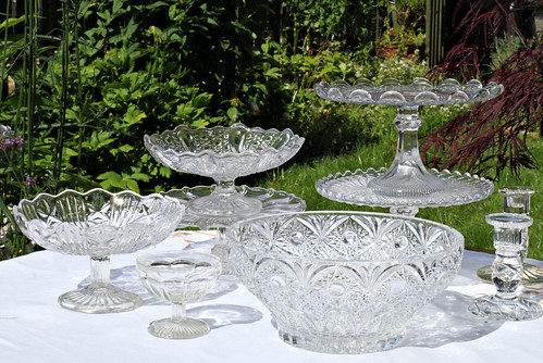 Vintage Glass Cakestands and Vintage Glass