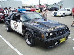 1983 Ford Mustang Police Interceptor coupe (sv1ambo) Tags: california new castle ford wales highway day all south hill towers police american nsw 1983 mustang coupe patrol interceptor