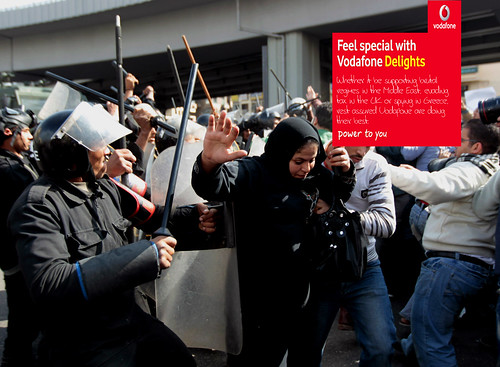 Vodafone sent out millions of messages in support of Hosni Mubarak