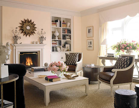 pale pink sitting room house beautiful
