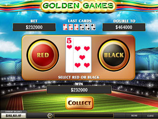 free Golden Games slot gamble feature