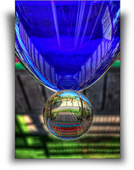 Cristal Bubble (abadonmi01) Tags: blue sculpture abstract glass ball globe egg orb sphere cristal hdr photomatix 3exp