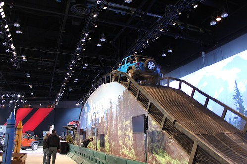 Jeep Off Road Track at Chicago Auto Show