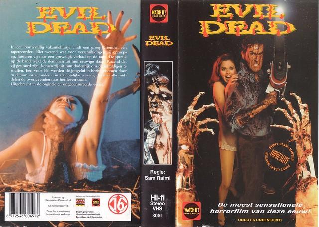 Evil Dead (VHS Box Art)