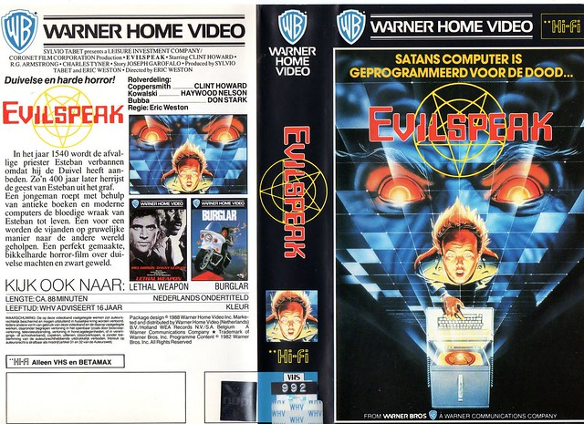 Evil Speak (VHS Box Art)