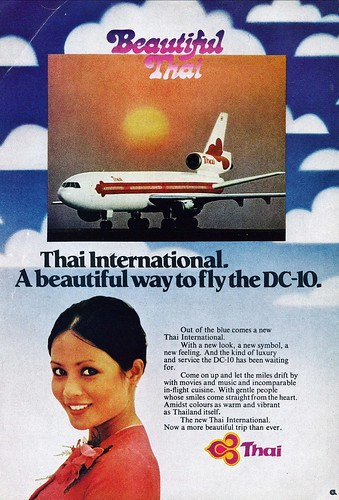 Thai Airways Douglas DC-10 ad
