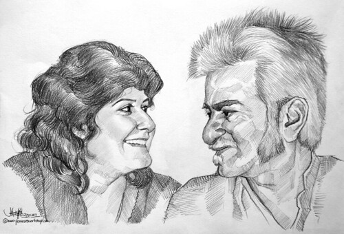 couple portraits in pencil 27012011