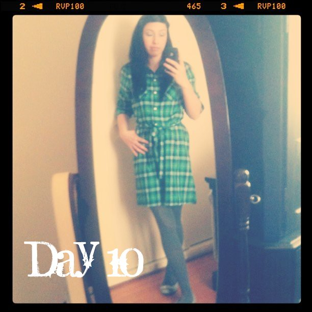February Tights Challenge: Day 10: plaid day & gray tights