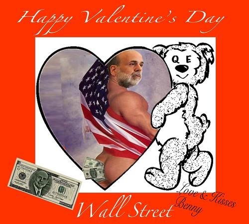 HAPPY VALENTINE'S DAY WALL STREET