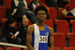 349. U20 Men's 400m.  MCAA Championships, Day 2. (Stanthefan) Tags: england field sport horizontal athletics jump birmingham track action run sprint twopeople westmidlands oneperson hurdle gbr threepeople