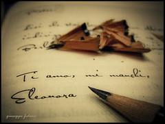 """San Valentino """"prima di amarti nulla era mio!"""" (Giusfido63') Tags: love nikon heart mail dedica cuore amore matita lettera lapis sanvalentino s8000 giusfido63"""