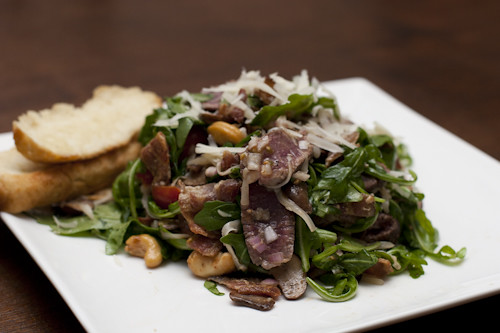 warm steak salad 008