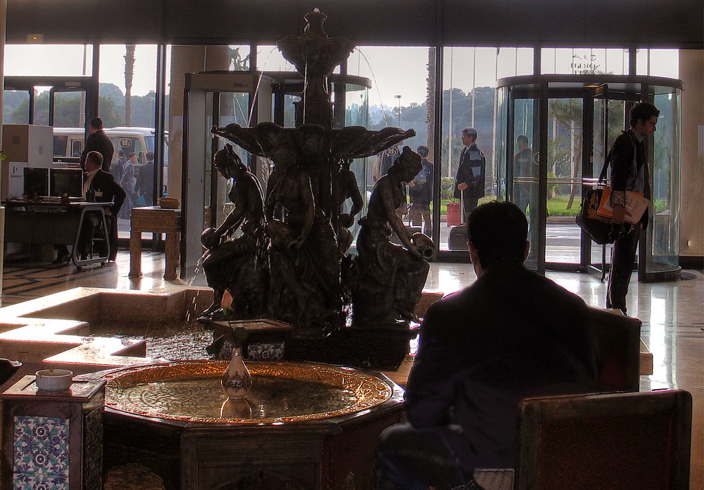 View from the lobby of the Algiers Hilton, 2007