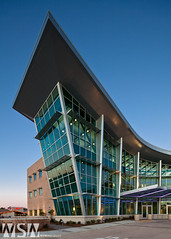 Slidell Cancer Center (Wizum) Tags: longexposure sunset usa building glass architecture hospital slidell evening design la cancer medical glazing curtainwall kawneer aedesign cancertreament