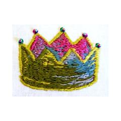 Vintage Crown Needlepoint Hoop Art (Leslie_Hunt) Tags: art wall vintage hoop needlework circus embroidery antique retro needlepoint hanging crown tapestry