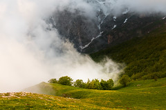 Partly Cloudy (luigig75) Tags: mountains montagne clouds snow neve nuvole alberi trees italia italy appennini summer 450d sigma30mmf14dchsmart