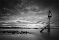 Moody by name (markrd5) Tags: newbrighton seascape wirral water sea rocks groynes cloud longexposure leefilters ndgrad