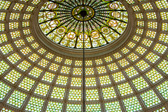 Closer View of the Tiffany Dome in Preston Bradley Hall (jeff_a_goldberg) Tags: tiffany summer chicagoculturalcenter nationalregisterofhistoricplaces tiffanyfavrileglass chicago tiffanyglassanddecoratingcompanyofnewyork rotunda stainedglass chicagoornamentalironcompany prestonbradleyhall dome tiffanydome illinois unitedstates us