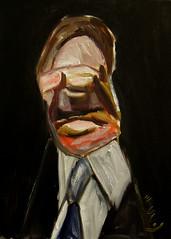 portrait of a conservative politician (Dave Nevard) Tags: oilpainting oiloncanvas oilportrait portrait portraitpainting expressionism expressionist abstract politician