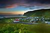 Vík (Jón Óskar.) Tags: vík church reynisdrangar reynisfjall sunset ocean mountains cliffs cloud iceland jónóskar