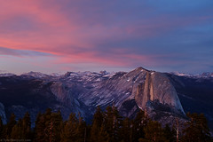 Half Dome from Sentinel Dome, Yosemite National Park (Tyler Westcott) Tags: sunset june clouds evening nationalpark twilight nps dusk explore yosemite halfdome sierranevada 2010 sentineldome yosemiteblog nikond90