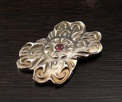 "garnet ""pin"" IV (maianajewel) Tags: pin brooch magnet magnetic garnet artclaysilver finesilver"
