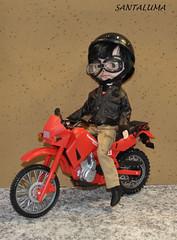 Mike testando sua moto!!