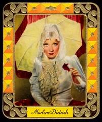 German Cigarette Card - Marlene Dietrich (cigcardpix) Tags: cinema vintage advertising films ephemera actress movies cigarettecards