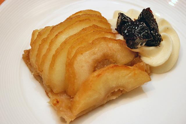 Tarte Aux Pommes Lyonnaise - Apple Tart, Prune-Armagnac Diplomat Cream
