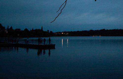 Green Lake at night