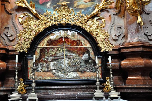 st john baptiste altar plus skeleton