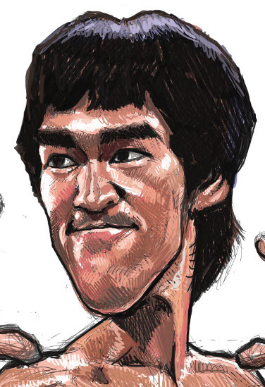 digital caricature of Bruce Lee - 2