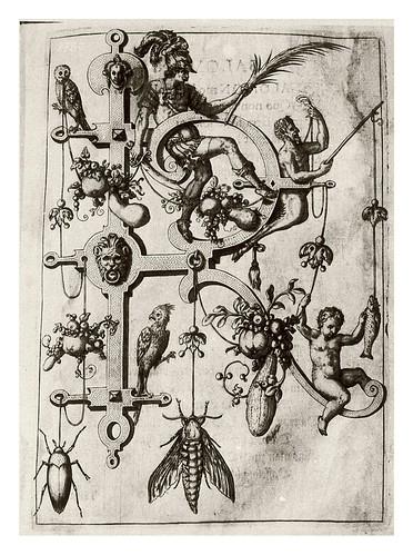 017-Letra R- Romano-Neiw Kunstliches Alphabet 1595- Johann Theodor de Bry