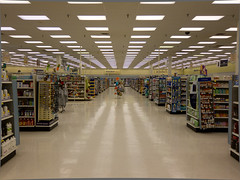 Center Aisle (kitch) Tags: canon grid vanishingpoint hats aisle flourescent drugstore dull riteaid vitamins depressing endless s90 foodmart sprinklerheads canons90