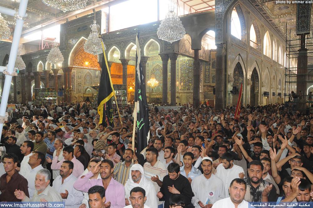 الزائرين یعزون اباالاحرار بذكری وفاة ام المصائب السيدة زينب سلام الله عليها في يوم 15 رجب