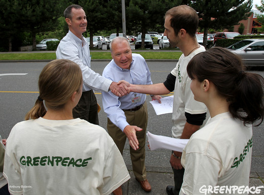 Greenpeace meets Costco executives