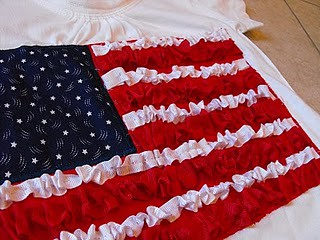 ruffled flag shirt