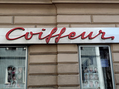 Coiffeur (phospho) Tags: vienna wien shop typography schild font type lettering calligraphy script schrift portals typedesign